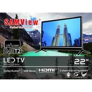 "Cost-Effective Choice SAMVIEW 22 INCH LED TV WITH DVB T2 DIGITAL MYTV READY HDMI&VGA ( 1 YEAR WARRANTY ) 22"" Computer Monitor"