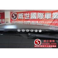 SMART 451 FOR2 1000CC 豪華強光LED第三煞車燈(外黑銀圈款)