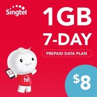 Singtel Data Package - 1GB (7 days)