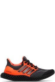 ADIDAS ORIGINALS 黑色 & 橙色 Ultra 4D 5.0 运动鞋 黑色 & 橙色 Ultra 4D 5.0 运动鞋