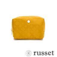russet經典系列緹花布化妝包(中)黃/黃
