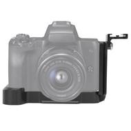 ตัวยึดจานปล่อยเร็วรูปตัวL,อลูมิเนียมอัลลอยด์พร้อมฐานเสียบแบบCold Shoeสำหรับกล้องCanon EOS M50 Mirrorless