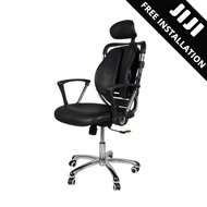 JIJI Ergonomic Superintendent Chair (Free Installation) - Office Chair/ Study Chair/ Ergonomic Chair/ Business Chair/ Chair with Wheels/ Roller Chair / Free 12 Months Warranty (SG)