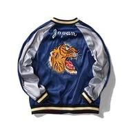 Sukajan Yokosuka Jacketผู้ชายเสือหัวเย็บปักถักร้อยPatchworkแจ็คเก็ตบุรุษสไตล์ญี่ปุ่นStreetwear Outerwear