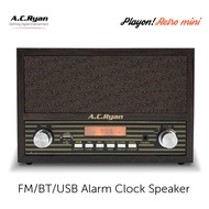 AC Ryan Retro Mini - FM/BT/AUX Alarm Clock Speaker w/Headphones output.