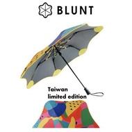 【BLUNT 紐西蘭 XS_METRO 台灣限量款 抗強風 99%抗UV折傘《水果派對》】BLT-X02/摺疊傘雨傘