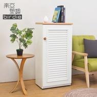 【南亞塑鋼】1.6尺單門百葉塑鋼收納置物櫃/隙縫櫃/鞋櫃(白色+木紋色)