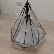鑽石造型工業風吊燈(瑕疵品)