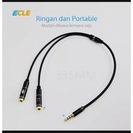 ECLE kabel Aux Audio Splitter 3,5mm konektor