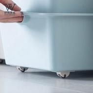 【好物良品】日本隱藏收納箱移動黏貼滾輪 輪子 收納輪_3組(一組4入)3組(一組4入)