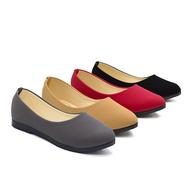 รองเท้า ร้านแนะนำ[No.VM12] รองเท้าคัชชู ส้นเตี้ย หัวแหลม รองเท้าหนัง