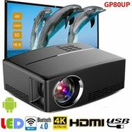Projector GP80UP 4K WiFi LED Portable Projector HD 1920 x 1080 Home Theater LCD Mini Bluetooth Projector