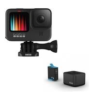 .. 福利品 GoPro HERO9 Black CHDHX-901 運動攝影機 + GoPro ADDBD-001 雙電池座充 套組 公司貨