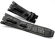 28MM Black Leather Watch Band Strap Fits for Audemars Piguet Royal Oak AP100