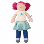 【美國 Blabla Kids】手做純棉針織娃娃12吋 - 紅髮女孩 Rocker Mini Lola(TM160309027)