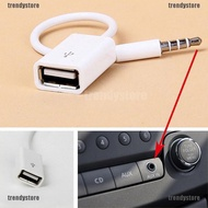 [Trendystore]Hot Sale 3.5mm  AUX Audio Plug Jack To USB  Female Converter 12V Car CD Player