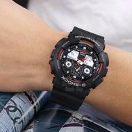 CASIO G-SHOCK GA-100-1A4 5081 Black Red CLASSIC ANALOG & DIGITAL DISPLAY WATCH