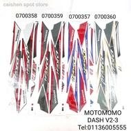 ✒DASH V2 DASH110 HONDA STICKER COVERSET MOMO