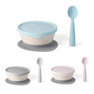 【品牌指定商品任兩件贈限量收納袋1入】美國 Miniware 天然聚乳酸兒童學習餐具 新生寶寶組(3色可選)
