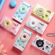 Q17入耳式耳機 帶麥可通話 聽歌3.5mm 馬卡龍甜甜圈收線盒 禮品贈品娃娃機商品