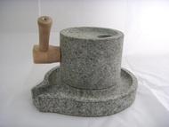 HZ07 石來運轉之超級大石磨 店內擺設 庭園/園藝造景/擺飾 古早磨豆器 體驗復古新趣味