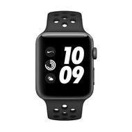 Apple Watch一般版和NIKE+Series3 GPS版 太空灰色鋁金屬錶殼配黑色運動型錶帶42mm[公司貨]