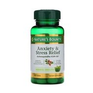 NATURE'S BOUNTY Anxiety & Stress Relief Ashwagandha KSM-66, 50 Tablets