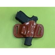 ''' 昇巨模型 ''' GLOCK 17 / 19 / 26 - 輕便型便衣槍套 / 皮製警用槍套 - 原裝進口 !