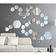 3D Mirror Hexagon Vinyl Removable Wall Sticker Decal Home Decor Art DIY