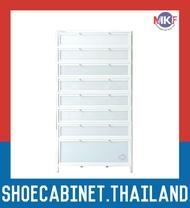 8 ชั้น สีขาว ตู้รองเท้าอลูมิเนียม กันน้ำกันปลวก ตู้รองเท้า ชั้นวางรองเท้า กล่องใส่รองเท้า ตู้อเนกประสงค์ ALUMINIUM SHOE CABINET