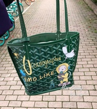 韓國EMO米妮塗鴉托特包/側背包 時尚狗牙包/子母包/斜背包/購物袋 Goyard ♥️超值買一送四♥️
