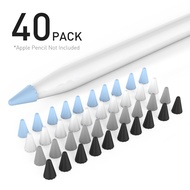 [40 pcs] AHASTYLE Silicone Pencil Nib/Tip Protector Cover Cap for Drawing Noiseless for Apple Pencil 1st/2nd Replacement Non-Slip Writing Nib/Tip Protector