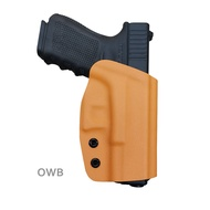 B.B.F Make OWB KYDEX Glock Holster ซองปืนพก Fits: Glock 19 19x 23 32 17 22 31 25 26 27 33 30s CZ P10 Tactical Holster Outside Waist Carry Case Leg Holster Bag With Belt Clip Outdoor Hunting Holsters Accessories Right Hand Draw ซองปืนพกใน
