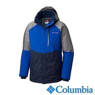 Columbia哥倫比亞 男款-Omni-HEAT保暖防水連帽外套-藍色