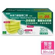 【康乃馨】醫療口罩30片盒裝 未滅菌(一般耳帶蘋果綠)