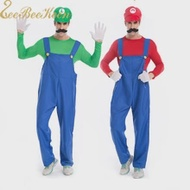 Cosplay Adults Mario Super-Mario-Brothers Dance-Costume-Set Party-Suit Halloween Women