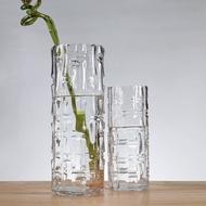 Vas Kaca Bulat Besar Susunan Bunga Transparan Ruang Tamu Hiasan Air Rumah Tangga Menambah Kekayaan Buluh Lily Rose