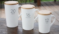 Starbucks number mug/ big cup / for men big coffee mug