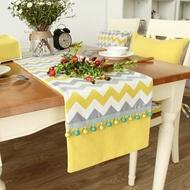 時尚可愛空間餐桌布 茶几布 隔熱墊 鍋墊 杯墊 餐桌巾桌旗 512 (33*240cm)