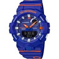 CASIO 卡西歐手錶 G-SHOCK GBA-800DG-2A藍牙連結運動管理數位雙顯錶-藍X橘紅   廠商直送