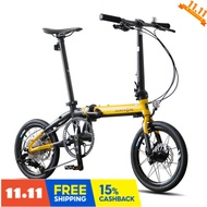 Dahon white bar phase 6 interest free Dahon folding bicycle 16 inch 9-speed disc brake k3plus men's and women's sports bike kaa693 cool yellow Q h