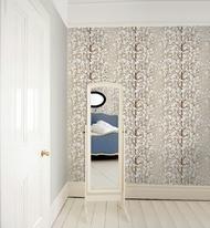 樹木壁紙 乳白色 雪草莓 北歐風牆紙 marimekko Wallcoverings 5 / Lumimarja 23375