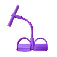 Daujai happy ยางยืดออกกำลังกาย (ม่วง) อุปกรณ์ช่วยยืดกล้ามเนื้อได้ดี ออกกำลังกายได้ทุกสัดส่วน ได้มากกว่า 100 ท่า ยางยืดแรงต้าน ยางยืดฟิตเนส ยางยืดแขนโยคะ สายดึงแรงต้าน ยางยืดโยคะ สายยางแรงต้าน สายแรงต้าน สายยางยืดโยคะ ยางยืดเล่นโยคะ