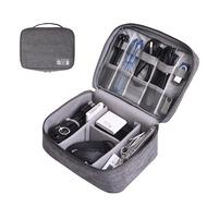 กระเป๋าเดินทางสายกระเป๋าแบบพกพาUSB Gadget Organizer Chargerสายเครื่องสำอางค์ซิปกันน้ำกระเป๋าชุดอุปกรณ์