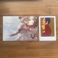 NANA 矢澤愛 附錄 月曆 明信片 2016年 リボン 日本 矢沢あい 少女漫畫 稀少物