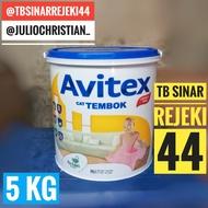 PROMO MURAH COD !!! Cat AVITEX 5KG Galon 5 KG Tembok Interior Plafon Dinding Avian Paint - SUPER WHITE TERSEDIA JUGA cat tembok 5kg murah/cat tembok 25 kg/cat tembok 1 kg