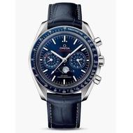 客人訂購實拍全新OMEGA 錶Speedmaste超霸月相登月錶 9904導柱輪同軸擒縱 2019年3月保卡