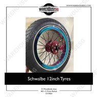 Schwalde 12inch Tyres for AM, DYU and Fiido Electric Scooter Escooter