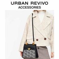 Urban revivo2019 ma'am Accessories Splicing กระเป๋าถือ ag46sb1s2000