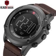 K698 KADEMAN Sports Men's Watch Steps Counter Leather Top Luxury Brand LED Mens Military Wristwatches Relogio Digital Wa